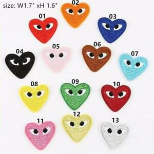 Love Hearts Embroidery Iron on Patches Clothes Badges DIY Sewing Eyes Applique C $1.99