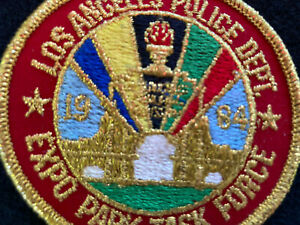 Vintage LAPD Los Angeles Police Department Task Force Expo Park 1984 Olympics $10.00
