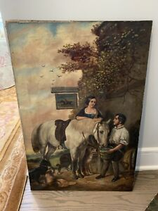 Antique Oil Painting By Listed Artist J. Howard No Reserve $250.00