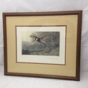 Framed Archibald Thorburn Lithograph #x27;A Labour of Love#x27; Birds Wildlife Color $35.00