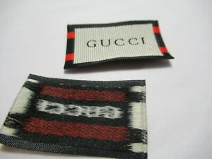 GUCCI 1 Clothing Designer Tag LABEL Replacement Sewing Accessories lot 1 $13.95