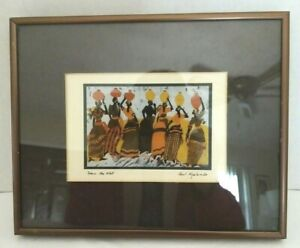 Paul Nzalamba Lithograph Framed Matted quot;From the Wellquot; 8quot; x 10quot; $20.00