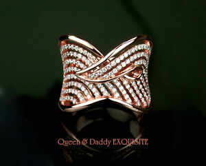 Wave - Dazzling 18K(750) rose gold diamond design ring