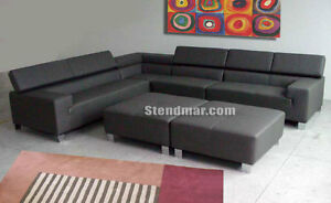 6PC MODERN EURO DESIGN LEATHER SECTIONAL SOFA S205A