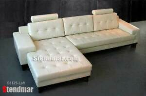 NEW MODERN EURO DESIGN LEATHER SECTIONAL SOFA S1125C