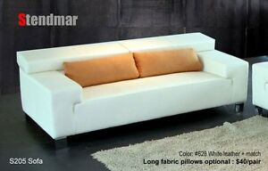 NEW MODERN EURO DESIGN LEATHER SOFA S205C