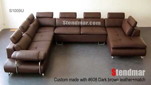 4PC MODERN DESIGN SECTIONAL LEATHER SOFA S1009U
