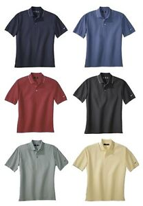 NIKE GOLF Mens Dri Fit Textured Polo Sport Shirts Tipped Trim Sizes XS S M $19.95
