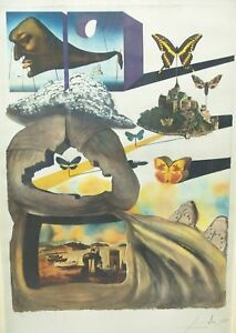 SALVADOR DALI HAND SIGNED LITHOGRAPH NORMANDY NORMANDIE SNCF FRENCH RAILROAD $8700.00