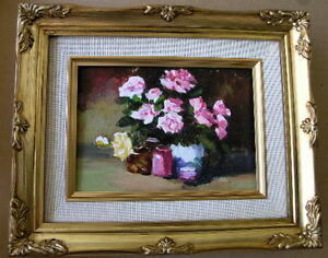 Framed Oil Painting quot;Floral N18quot; 9x11 in. $29.95