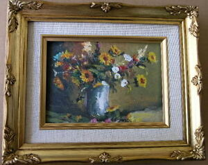 Framed Oil Painting quot;Floral N10quot; 9x11 in. $29.95