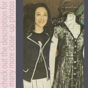 ROSAMUND KWAN LESLIE CHEUNG David Fielden Lace Gown!S4