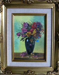 Framed Oil Painting quot;Beautiful Flowers in a Vasequot; 9x11 inches $27.95