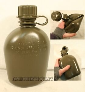 NEW US Military Army 1 Quart PLASTIC COLLAPSIBLE OD CANTEEN 1QT BPA Free $7.78