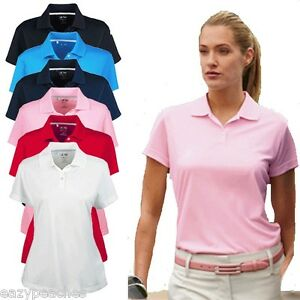 ADIDAS Golf BRAND NEW Womens S L XL 2XL Climacool Pique Polo Sport Shirts Ladies $29.95