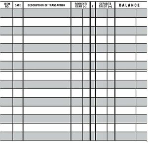 5 EASY TO READ CHECKBOOK TRANSACTION REGISTER LARGE PRINT CHECK BOOK REGISTERS $5.45