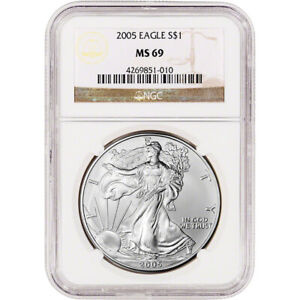 2005 American Silver Eagle - NGC MS69
