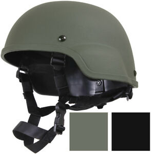 Tactical Hard ABS Helmet + Chin Straps Modular MICH-2000 Replica Military Army
