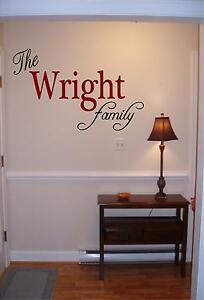 Personalized family name wall art vinyl decal sticker decor custom family room