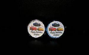 @*100 PERSONALIZED DISNEY PIXAR CARS 3 BIRTHDAY KISS CANDY FAVOR LABELS DECALS*@ $5.50