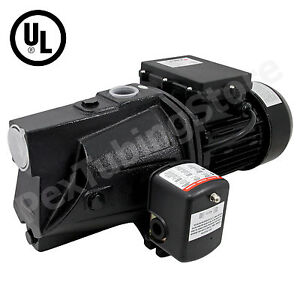 3/4 HP Shallow Well Jet Pump w/ Pressure Switch, 115/230V Dual Voltage, UL