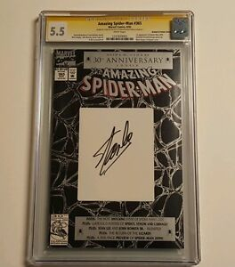 Amazing Spider-Man (1963 1st Series) #365 CGC ss 5.5 By Stan the Man Lee Himself