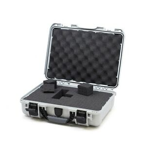 Silver Grey Nanuk 910 Case With Foam & Pelican TSA 1400 Lock