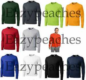 NEW Men's SPORT TEK Dri-Fit Big & Tall Long Sleeve T-SHIRT LT-4XLT TST350LS