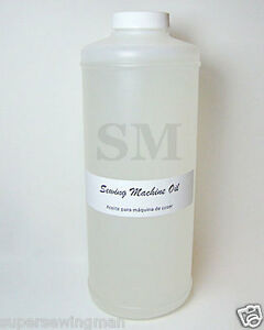 1 QUART CLEAR WHITE INDUSTRIAL amp; HOME SEWING MACHINE OIL $18.95