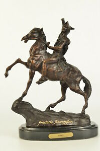 Scalp by Frederic Remington Western Americana Vintage Reproduction Sculpture Art