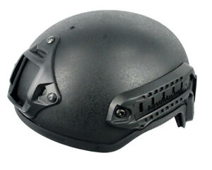 New Airsoft Tactical Hunting MICH 2001 Helmet with Side Rail & NVG Mount DE Tan