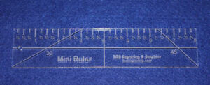 8quot; Mini Ruler. Acrylic 1 4quot; thick. Quilting Sewing $25.99