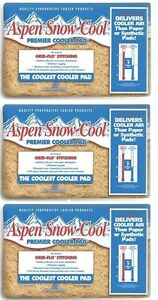 Aspen Snow Cool Water  Swamp Cooler Replacement Pads (lot of 3 Pads)