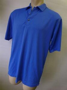 mens TIGER WOODS NIKE Fit Dry ss blue golf polo shirt size Medium CLEAN