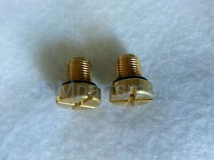 2- Brass Upgrade Coolant Bleeder Screw For BMW & Mini 17 11 1 712 788