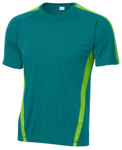 Sport-Tek Men's Big & Tall Colorblock Dri-Fit T-Shirt Workout LT-4XLT. TST351