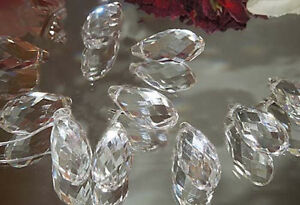 Teardrop Crystal Prism 5 pc Clear Feng Shui Hanging Sun Catcher 10X20MM (.4x.8