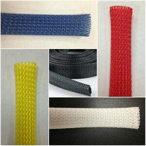 Braided Expandable Sleeve - Wire and Cable Loom Sleeving - Choose Color