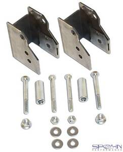 Rear Lower Control Arm Relocation Brackets   1982-2002 GM F-Body with Moser Rear