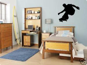 Skateboard Skater Boys Bedroom Kids Wall Art Decal Lettering Words 30quot;