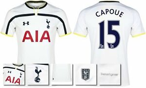 *14  15 - UNDER ARMOUR ; TOTTENHAM HOME SHIRT SS  CAPOUE 15 = KIDS SIZE*