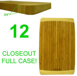 CLOSEOUT! 12 NEW CHEFS BAMBOO WOOD KITCHEN CUTTING/SERVING BOARDS,16