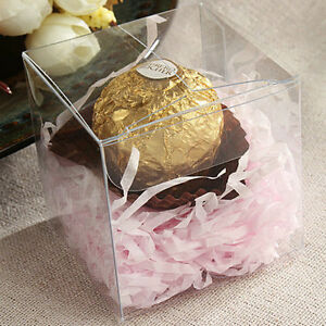 Lot of 200 100 50 Clear Anti Scratch Wedding Party Favor Gift Candy Boxes $48.99