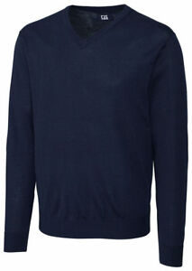 Cutter & Buck Men's Fully Fashioned Long Sleeve V Neck Winter Sweater. MCS01431