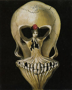 Ballerina in a Deaths Head by Salvador Dali Giclee Canvas Print Repro $34.99
