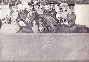 VICTORIAN Women Men HORSE Riding FASHION Style Hat Vintage 1908 MATTED Picture $29.00