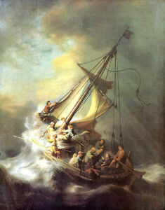Christ in the Storm by Rembrandt Giclee Canvas Print Repro $34.99