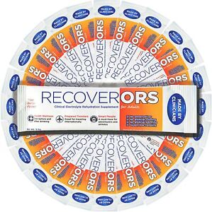 RecoverORS quot;Pedialyte for Adultsquot; Best for rehydration hangover flu 25 Pack