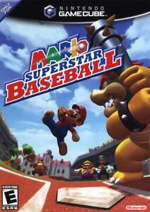 MARIO SUPERSTAR BASEBALL NINTENDO GAMECUBE GAME W CASE
