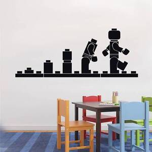LEGO EVOLUTION Kids Wall Decal Sticker Quote DIY Vinyl Home Decor Words Letters $18.99